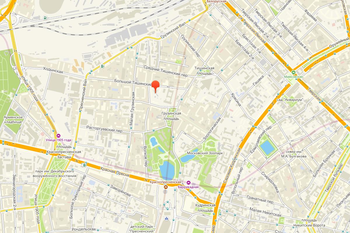 Карта проезда в ГК Автономная Москва